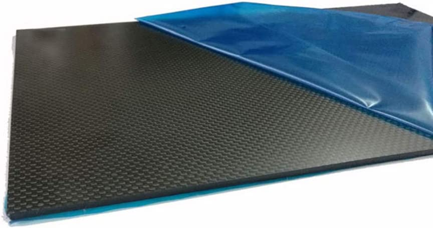 SOFIALXC Carbon Board 100/% Carbon Fiber Sheet Laminate Plate Panel Twill Matte Finish for Rc Airplanes.Sports Supplies,200x300mm,0.5mm