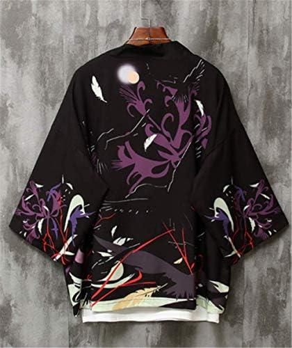 チャイナ風 プリント シャツ メンズ 半袖 ビーチシャツ 和式パーカー トップス カーディガン 紫外線防止 開襟シャツ カジュアル 薄手 男女兼用