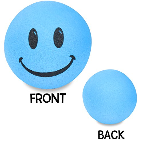 - Tenna Tops Blue Smiley Happy Face Antenna Topper / Antenna Ball / Mirror Dangler