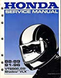 1988-1996 HONDA MOTORCYCLE VT600C,CD, SHADOW VLX SERVICE MANUAL (539)