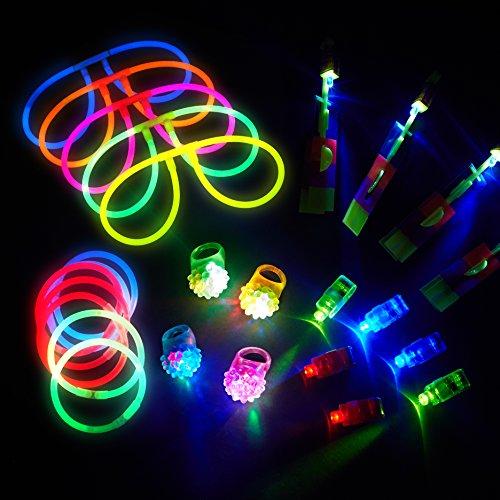 Glow Sticks Party Pack 90 Pc Glow Bracelets And Led Light