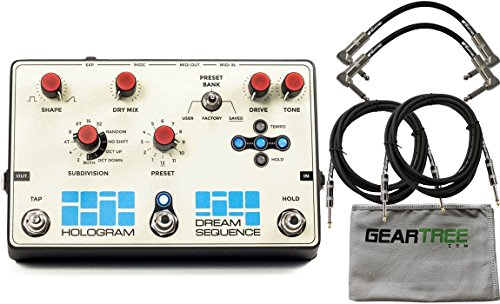 Hologram Electronics Dream Sequence Programmable Rhythm & Octave Pedal w/ 4 Cables and Cloth by Hologram Electronics