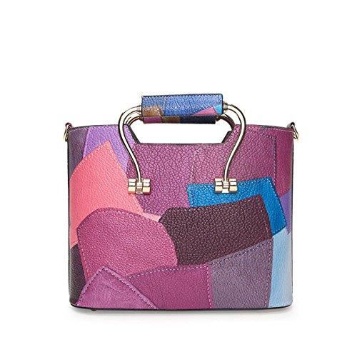 Crossbody Calmgray Stitching Bag Handbag PU DHFUD Fashion Womens Shoulder qWxpwO88HX