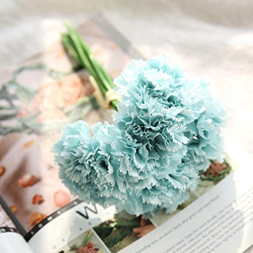Anshinto Artificial Flowers Fake Carnations Floral Wedding Bouquet Bridal Hydrangea Decor Display Flower (G)