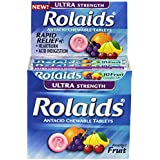 Rolaids Ultra Strength Tablets, Fruit, 10 Count (Pack of 12)