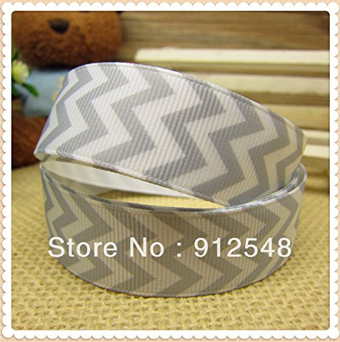 7/8' Lapel Pin (FunnyCraft 10 Yards New Arrival 7/8'' 22Mm Chevron Print Printed Grosgrain Ribbon Hairbow Diy Party Decoration Wholesale)
