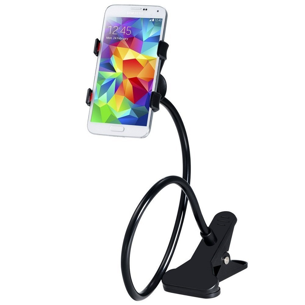 Hysagtek Long Arm Lazy Bed Desktop Car Mount Holder for Cell Phone iPhone 6s/5s/5/, GPS Navigator