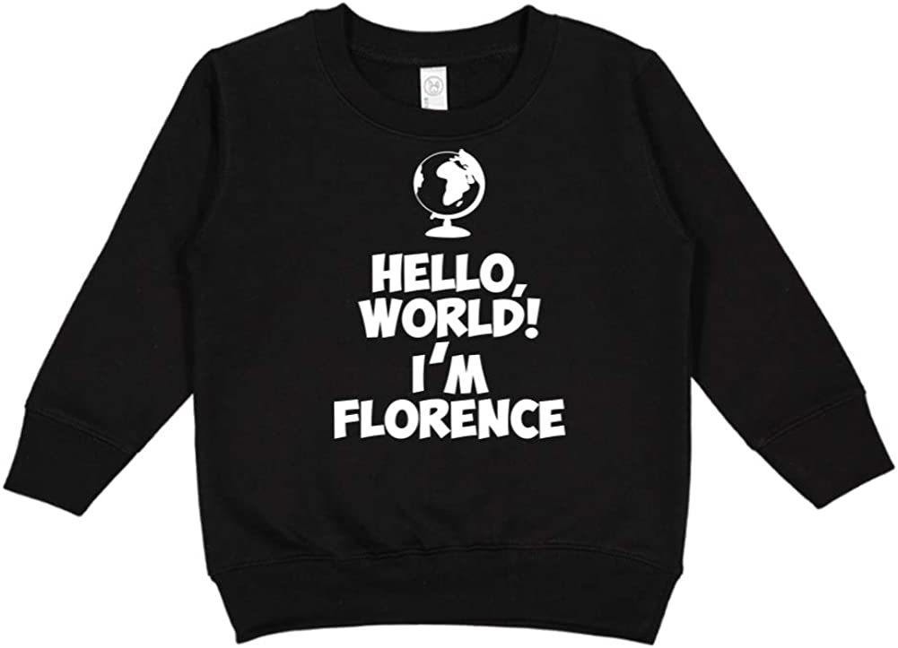 Personalized Name Toddler//Kids Sweatshirt Im Florence Mashed Clothing Hello World