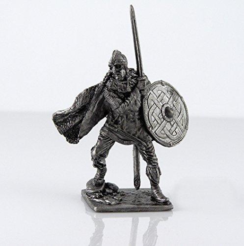 Tin toy soldiers. Scandinavian Viking, Swedish jarls, 9-10 century metal sculpture. Collection (Tin Toy Miniatures)