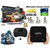 [Free Wireless Keyboard + Mouse] J-DEAL® 1000M LAN MX3 MXIII-G Android 5.1 TV Box Newest CPU Amlogic S812 Fully Loaded Add-ons Newest KODI 2GB RAM 8GB ROM Dual Band 2.4G/5G WIFI Bluetooth 4.0