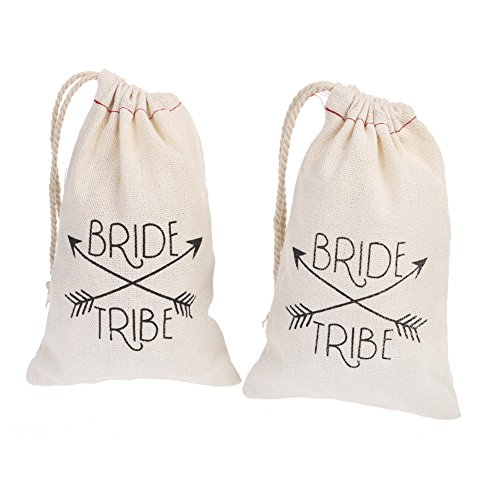 Ling's moment Wedding Party Gift Favor Bags - 10pcs 4
