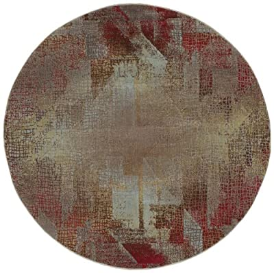 "Nourison Modesto (MDS09) Multicolor Round Area Rug, 5-Feet 3-Inches by 5-Feet 3-Inches (5'3"" x 5'3"")"