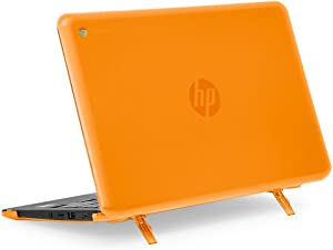 """mCover Hard Shell Case for 11.6"""" HP Chromebook 11 G6 EE / G7 EE/ 11a-NBxxxx laptops (NOT compatible with pre-2018 HP C11 G4EE / G5EE) (HP C11 G6EE Orange)"""