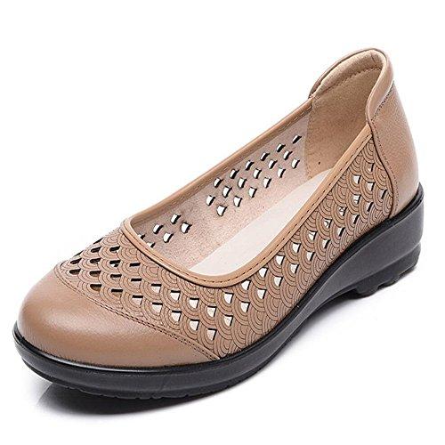 Mama zapatos sandalias fondo blando con sandalias Albaricoque
