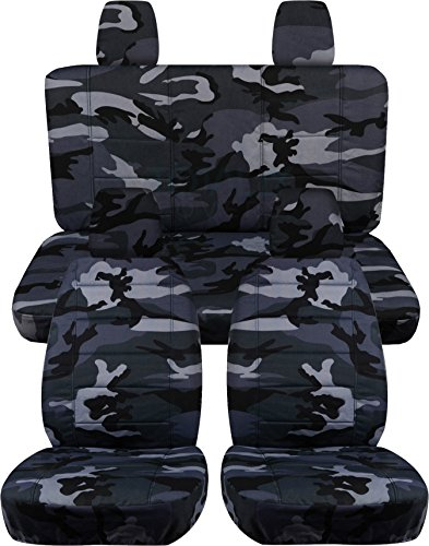 Jeep Wrangler JK (2011 to 2016) Camo Seat Covers: Gray - Full Set (19 Prints Available) (Camo Seat Cover For Jeep Wrangler compare prices)