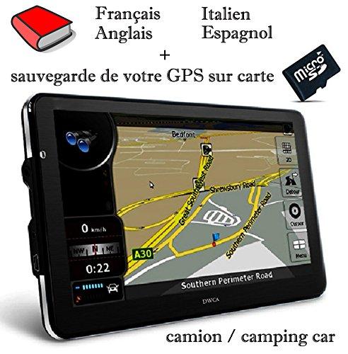 GPS DWCA 7 Inch HD  Europe 2018  Sauvegarde GPS Sur Carte SD L708