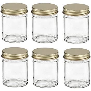 Amazoncom 2 Oz StraightSided Jars with Metal Plastisol Lids 6