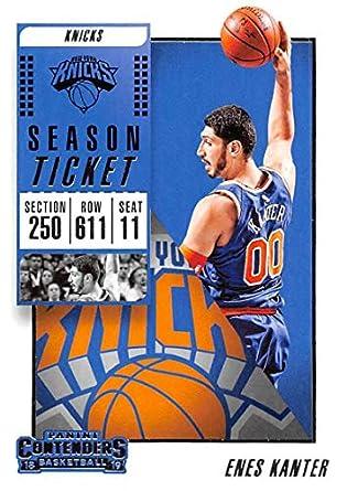 3fbb2f018e1 2018-19 Panini Contenders Season Ticket #23 Enes Kanter New York Knicks NBA  Basketball