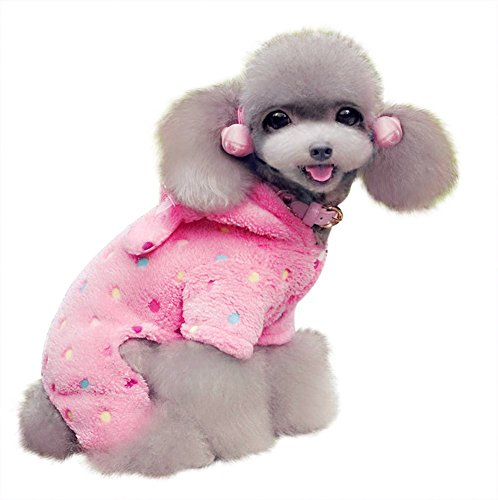 [Blytieor Sweetie Dog Coat Clothes Spring Autumn Winter for Dog Soft Cozy Pet Clothes Pet Puppy Dog Hoodie Winter Clothes Jumpsuit Coat Clothes(Pink] (Shark Dog Outfit)