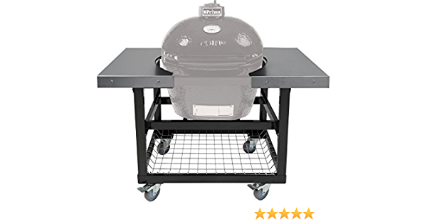 Primo Ceramic Grills Cart With Basket And Ss Side Shelves For Oval Lg 300 Xl 400 Garden Outdoor