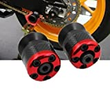 Red High Quality Motorcycle Carbon CNC Aluminum Machined Swingarm Sliders Spools Fiber Protector Fit For Yamaha YZF R6 2005-2012