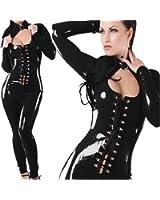 Angel&Me Super Sexy Adult Black Cool PVC Leather Like Dresses Pants PK23Black