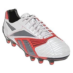 Reebok Men's Valde II HG Soccer Cleat,Steel/Metallic Red/Dark Graphite/Black,9 M US