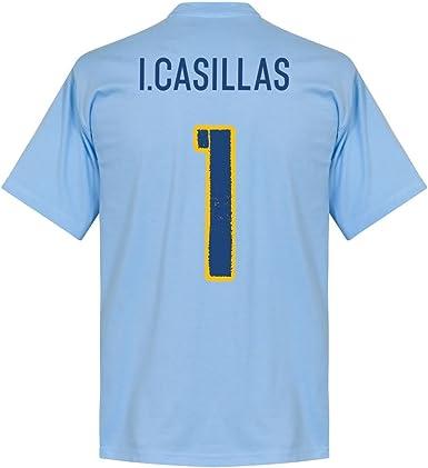 Camiseta Retake Spain Casillas Team - Cielo - L : Amazon.es: Ropa