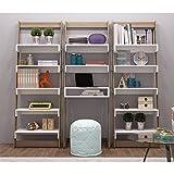 Manhattan Comfort Carpina 5 Shelf Bookcase in White and Oak