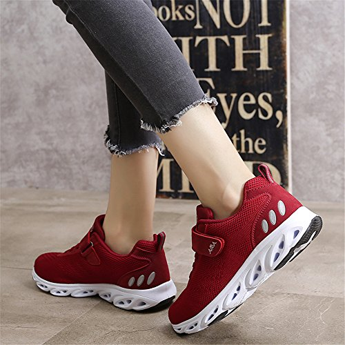 Jogging Shock 5 Mens Gym Size Red Running Shoes Athletic Womens Breathable Trainers Sports Lightweight 9 Monrinda 4 Sneakers Absorbing HXwqPTH5