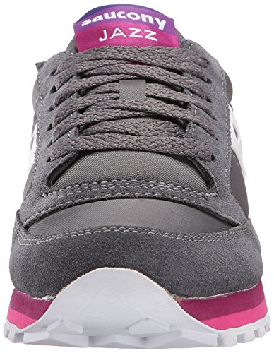 In Jazz Bianco Grigio E Purple O' Rainbow Sneaker Nylon Suede Saucony Charcoal ZpqTB6W