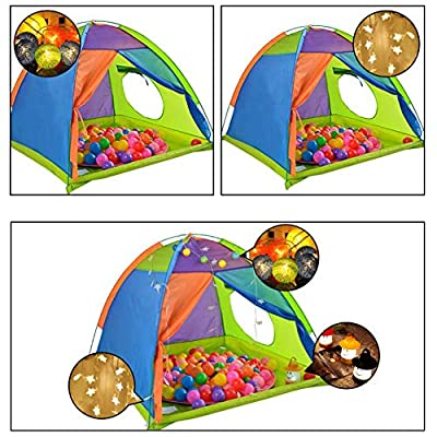 Taimot Rainbow Color Kids Play Tent & Playhouse Portable Zipper Carrying Case Kids Pop Up Tent Camping Playground Indoor/Outdoor Children Playhouse for Boys and Girls Toddlers : Baby
