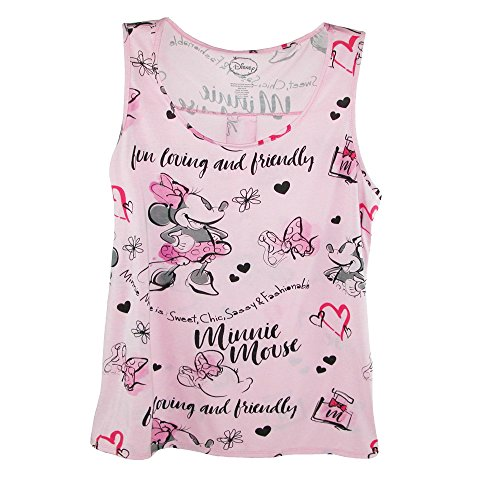 Disney Women's Plus Size Minnie Mouse Tank, 3X, Pink]()