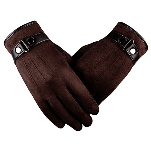(2018 Lastest,WUAI Clearance Men's Motorbiker Cycling Warm Ski Snow Snowboard Fashion Winter Leather Gloves(Coffee ,Free)
