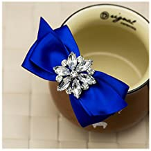 Douqu Rhinestone Crystal Wedding Bridal Shoe Bow Boots Clips detachable shoes buckle Shoe Decoration Charms Pair Jewelry