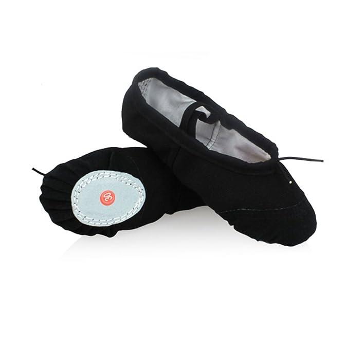 DoGeek Gute Qualität Ballettschuhe weich Spitzenschuhe Ballet Trainings Schläppchen Schuhe für Mädchen/Damen in den Größen 22