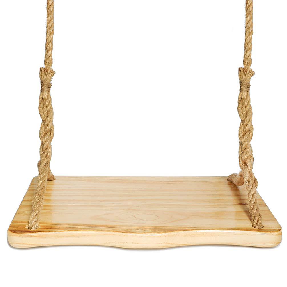 Aoneky アウトドア 防水 松 木製ブランコ 裏庭 交換用木製ブランコシート 子供 大人用 23インチ x 13インチ B07H1795FG