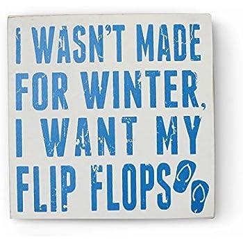 3e5683d63 Barnyard Designs I Want My Flip Flops Wooden Box Wall Sign Beach House  Decor Plaque 8