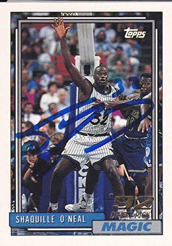 (SHAQUILLE O'NEAL Signed Upper Deck Trading Card J50020 - JSA Certified - Basketball Autographed Cards )