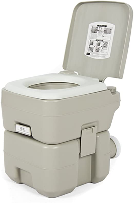 10L//20L Portable Removable Flushing Toilet Outdoor Camping Potty Gray Removable