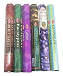 HEM Incense Sticks Best Sellers 6 Boxes X 20 Grams, Variety Pack