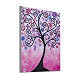 Baulody Special Shaped Diamond Painting DIY 5D Partial Drill Cross Stitch Kits Crystal Rhinestone of Picture Serial Diamond Embroidery Arts Craft - Four Season Tree (Multicolor)