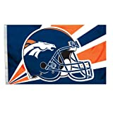 NFL Denver Broncos 3-by-5 Foot Helmet Flag