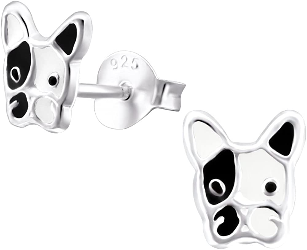 So Chic Jewels Childrens 925 Sterling Silver Dog Ear Studs