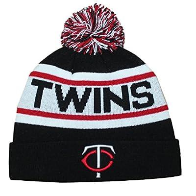 MIN Twins Adult Winter Hat / Beanie with Removable Pom Pom