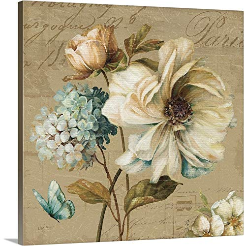 Marche de Fleurs Blue II Canvas Wall Art Print, 20