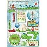 Karen Foster Design Acid and Lignin Free Scrapbooking Sticker Sheet, Mini Golf