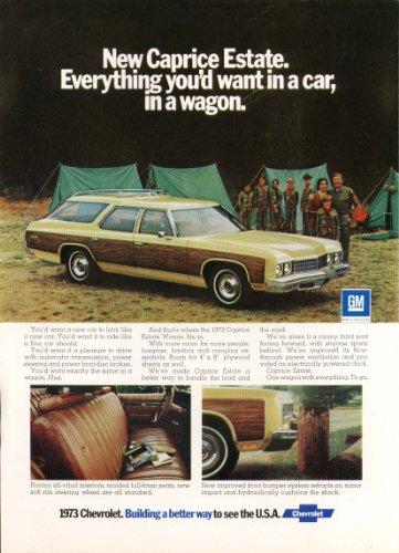 - Chevrolet Caprice Estate station wagon ad 1973