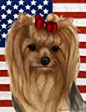 Yorkie Show Cut – Best of Breed Patriotic II Large Flags