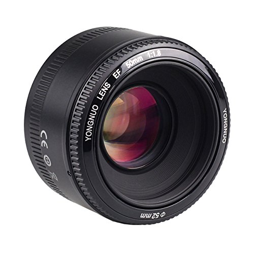 New 50mm F/1.8 Auto Focus AF/MF Prime Standard Lens for Canon EOS Camera